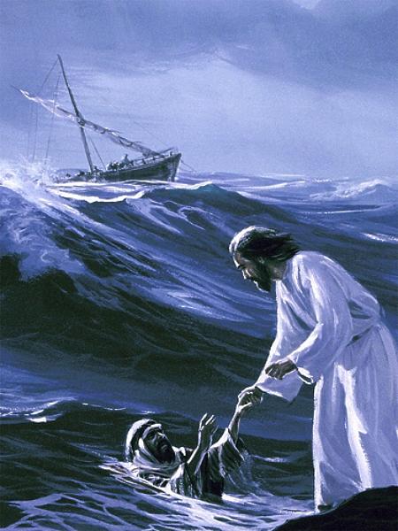 Jesus_saves_Peter